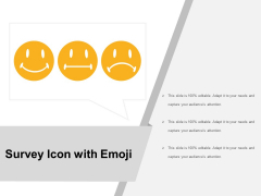 Survey Icon With Emoji Ppt PowerPoint Presentation Infographic Template Inspiration PDF