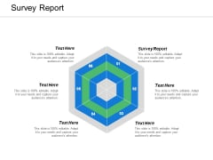 Survey Report Ppt PowerPoint Presentation Summary Maker Cpb