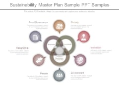 Sustainability Master Plan Sample Ppt Samples