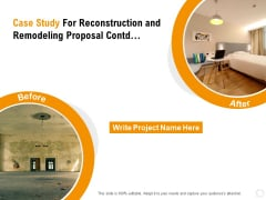 Sustainable Building Renovation Case Study For Reconstruction And Remodeling Proposal Contd Sample PDF