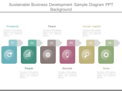 Sustainable Business Development Sample Diagram Ppt Background