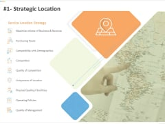 Sustainable Competitive Advantage Management Strategy 1 Strategic Location Ppt Layouts Samples PDF