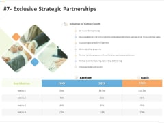 Sustainable Competitive Advantage Management Strategy 7 Exclusive Strategic Partnerships Ppt Slides Templates PDF