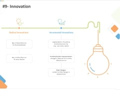 Sustainable Competitive Advantage Management Strategy 9 Innovation Ppt Summary Templates PDF