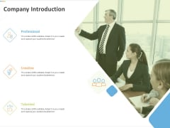 Sustainable Competitive Advantage Management Strategy Company Introduction Ppt Layouts Ideas PDF