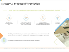 Sustainable Competitive Advantage Management Strategy Strategy 2 Product Differentiation Ppt File Summary PDF
