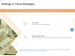 Sustainable Competitive Advantage Management Strategy Strategy 3 Focus Strategies Ppt Pictures Deck PDF
