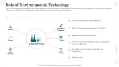 Sustainable Green Manufacturing Innovation Role Of Environmental Technology Elements PDF