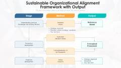 Sustainable Organizational Alignment Framework With Output Ppt PowerPoint Presentation File Inspiration PDF