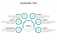 Sustainable Yield Ppt PowerPoint Presentation Infographics Graphics Download Cpb