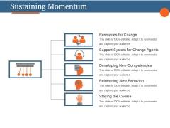 Sustaining Momentum Template 1 Ppt PowerPoint Presentation Layout