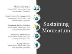 Sustaining Momentum Template 2 Ppt PowerPoint Presentation Infographics