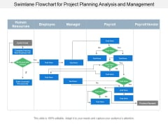 Swimlane Flowchart For Project Planning Analysis And Management Ppt PowerPoint Presentation Portfolio Tips