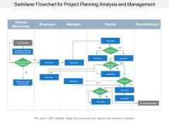 Swimlane Flowchart For Project Planning Analysis And Management Ppt PowerPoint Presentation Portfolio Tips