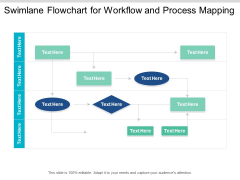 Swimlane Flowchart For Workflow And Process Mapping Ppt PowerPoint Presentation Infographic Template Graphics