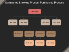 Swimlanes Showing Product Purchasing Process Ppt PowerPoint Presentation Styles