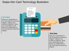 Swipe Atm Card Technology Illustration Powerpoint Templates
