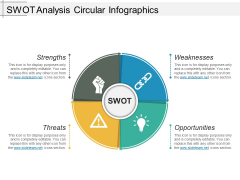 Swot Analysis Circular Infographics Ppt PowerPoint Presentation Ideas Background Image