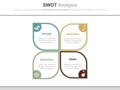 Swot Analysis For Corporate Business Strategy Powerpoint Template