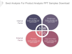 Swot Analysis For Product Analysis Ppt Samples Download