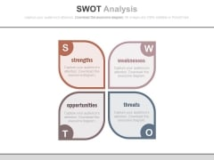 Swot Analysis Layout For Business Powerpoint Template