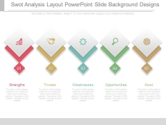 Swot Analysis Layout Powerpoint Slide Background Designs