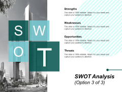 Swot Analysis Marketing Ppt PowerPoint Presentation Inspiration Objects