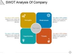 Swot Analysis Of Company Ppt PowerPoint Presentation Portfolio Background