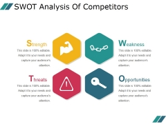 Swot Analysis Of Competitors Ppt PowerPoint Presentation Information