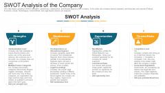 Swot Analysis Of The Company Ppt Portfolio Format PDF