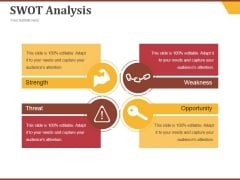 Swot Analysis Ppt PowerPoint Presentation Icon