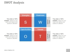 Swot Analysis Ppt PowerPoint Presentation Outline