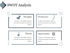 Swot Analysis Ppt PowerPoint Presentation Slides Graphics Design