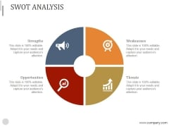 Swot Analysis Ppt PowerPoint Presentation Summary