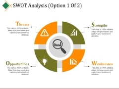 Swot Analysis Template 1 Ppt PowerPoint Presentation Icon Influencers