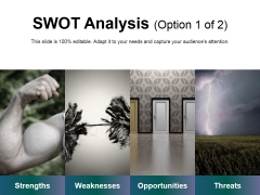 Swot Analysis Template 1 Ppt PowerPoint Presentation Ideas Template