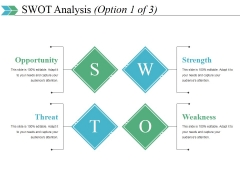 Swot Analysis Template 1 Ppt PowerPoint Presentation Show