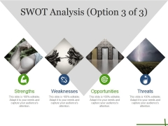 Swot Analysis Template 1 Ppt PowerPoint Presentation Slides Styles