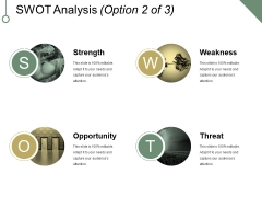 Swot Analysis Template 2 Ppt PowerPoint Presentation Gallery Mockup