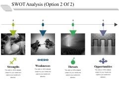 Swot Analysis Template 2 Ppt PowerPoint Presentation Inspiration Brochure