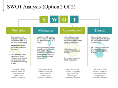 Swot Analysis Template 2 Ppt PowerPoint Presentation Layouts Guide