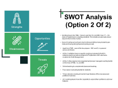 Swot Analysis Template 2 Ppt PowerPoint Presentation Layouts Influencers