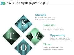 Swot Analysis Template 2 Ppt PowerPoint Presentation Portfolio Rules