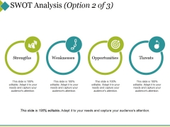 Swot Analysis Template 2 Ppt PowerPoint Presentation Show Outfit
