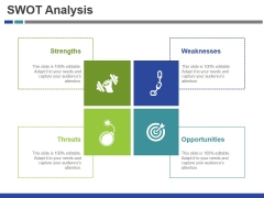 Swot Analysis Template 2 Ppt PowerPoint Presentation Slides Icon