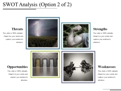 Swot Analysis Template 2 Ppt PowerPoint Presentation Summary Master Slide