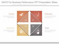 Swot For Business Performance Ppt Presentation Slides