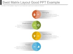 Swot Matrix Layout Good Ppt Example