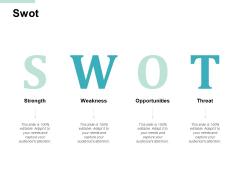 Swot Strength Threat Ppt PowerPoint Presentation File Master Slide