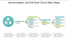 Synchronization And Drill Down One To Many Steps Ppt PowerPoint Presentation Infographics Templates
